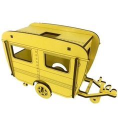 Its always a summer holiday with this great caravan model! Punch out the pieces and make your own freestanding model.Size of flat pack board model is x Caravan approx 170 x 105 when made. Caravan, New Zealand, Yellow, Model, Truck Camper, Models, Motorhome, Template