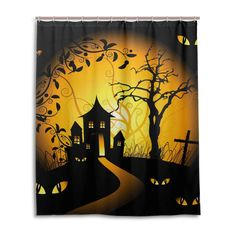 Allan J Beasley Shower Curtain Home Bathroom Decoration Decor Peculiar Design Fabric Shower Curtains X Inches Halloween House ** You can obtain more details by clicking on the image. (This is an affiliate link). Adult Halloween, Halloween House, Halloween Costumes, Halloween Shower Curtain, Fabric Shower Curtains, Fabric Design, Cape, Bathroom, Decoration