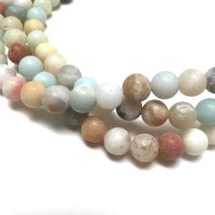 Amazonite Matte Round Beads 6mm by trunksale on Etsy #trunksalesupplies #trunksaleonetsy #gemstonebeads #amazonitebeads #mattefinish #6mm #jewelrysupplies #teal #brown #easterbeads #springbeads #shopsmall #shopclevelandlocal