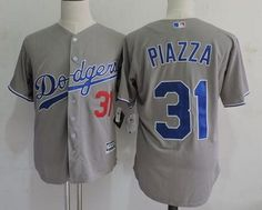 Los Angeles Dodgers #31 Mike Piazza Retired Gray Collection Player Jersey