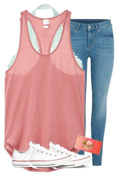 """""""Untitled #2522"""" by laurenatria11 ❤ liked on Polyvore featuring Victoria's Secret, Converse and Too Faced Cosmetics"""