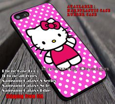 Pink Polkadot Kitty Cat iPhone 4s 5 5c 6 6  6s  Cases Samsung Galaxy S4/S5/S6/Edge/Edge  NOTE 3/4/5 #cartoon  #animated  #HelloKitty ii
