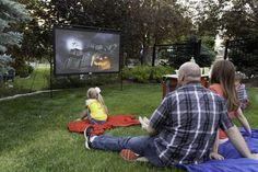 【Hot Sales 50% OFF!】Portable Giant Outdoor Movie Screen – beyondkrafty Outdoor Movie Screen, Outdoor Movie Nights, Outdoor Screens, Outdoor Projector, Projector Screens, Neighborhood Party, Backyard Movie, Fun Backyard, Courtyards