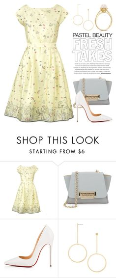 """Pastels 4414"" by boxthoughts ❤ liked on Polyvore featuring Palava, ZAC Zac Posen, Christian Louboutin and Forever 21"