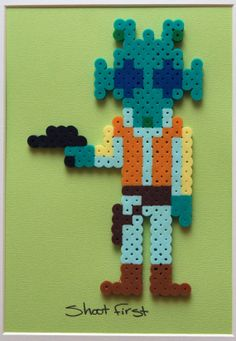 Star Wars Perler Bead Artwork Greedo by HothPants on Etsy