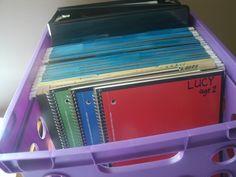 weekly homeschool organization. Great ideas!