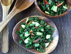 Smoky Massaged Kale Salad with almond butter dressing