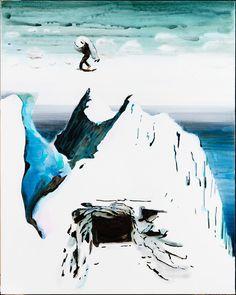 "Painting ""Mount Sarmiento"" by the Danish artist John Kørner, 150 x 120 cm. Odense, Bergen, Mount Everest, Watercolor Paintings, Scandinavian, Mountains, Canvas, Artist, Travel"