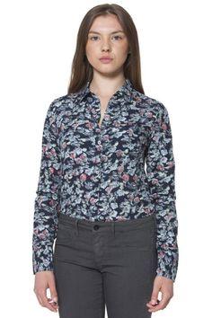 Camicia Donna Fred Perry (BO-31222109 V0032) colore Blu