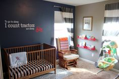 Red Tractor Baby Room Nursery