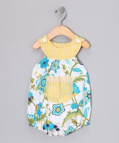 Take a look at this Turquoise Swirly Daisy Bubble Bodysuit - Infant by Beary Basics on #zulily today!