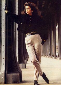 """Paris: A New Sense Of Shape"": Linda Spierings by Steven Meisel for Vogue US July 1985"