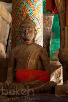 Buddha statue at Wat Nokor   Kampong Cham Province, Cambodia