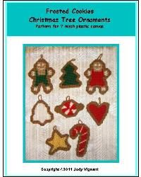 Frosted Cookies Christmas Tree Ornaments