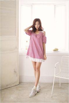 Off shoulder dress   #kooding.com #dress #offshoulder