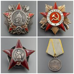 Metal: BRONZE                                      ORIGINAL SOVIET UNION WWII LOT OF MILITARY ORDERS/MEDAL AWARDED TO LIEUTENANT COLONEL,  WITH ALL DOCUMENTATIO