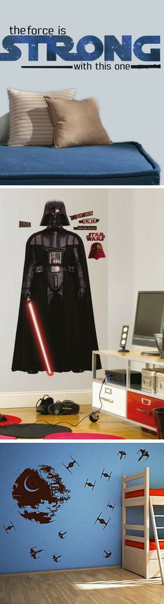 Star Wars Wall Stickers Blast into your Living Room - Star Wars Decals #starwars #decals #decor #home