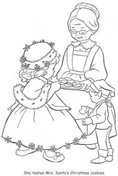 Coloring Book~Little Miss Christmas and Santa - Bonnie Jones - Álbumes web de Picasa