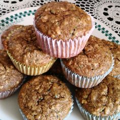 Two classic quick bread recipes are combined into one: banana zucchini bread, that can be made into muffins or loaves. Quick Bread Recipes, Muffin Recipes, Breakfast Recipes, Snack Recipes, Zucchini Bread Muffins, Cupcakes, Sweet Bread, Baked Goods, Sweet Tooth