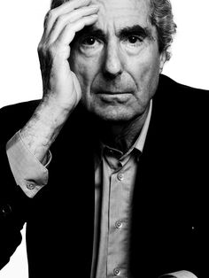 """Phillip Roth (1933) [""""Goodbye Colombus"""" """"Human Stain"""" etc.] - American novelist. Photo by Mark Abrahams"""