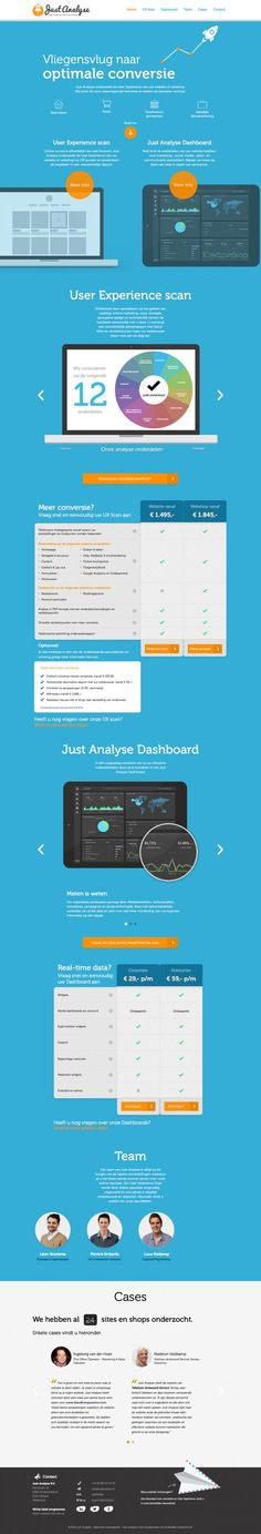 User Experience Scan voor webshops en websites I Real time data dashboard - Just Analyse UX Experts #WebDesign #Clean