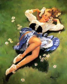 Lazy Days are Here Again - Gil Elvgren 1948
