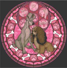 Stained Glass Lady and the Tramp