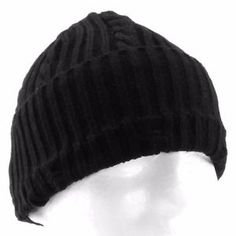 6f2ae6da691f6 Levi s Black Cable Knit Ribbed Beanie Winter Watch Hat for Men - One Size