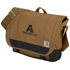 This custom messenger from Carhartt® will be your brand's signature look! Client Gifts, Embroidered Bag, Signature Look, Branded Bags, Carhartt, Messenger Bag, Gym Bag, Topshop, Laptop