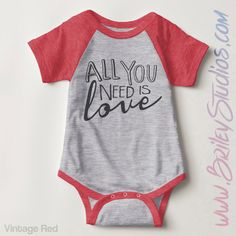 All You Need Is Love Infant Baseball Newborn Baby One Piece Bodysuit, Gender Neutral Baby Clothes, Personalized Baby Shower Gift, Raglan Gender Neutral Baby Clothes, Trendy Baby Clothes, Baseball Onesie, Baby Tie, One Piece Bodysuit, Baby Boy Fashion, Baby Outfits Newborn, Baby Wearing, Baby Shower Gifts