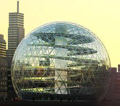 Plantagon urban farm geodesic dome