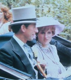 June 16, 1981: Prince Charles & his fiance, Lady Diana Spencer attending Royal Ascot.