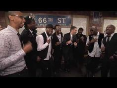 """Michael Bublé acapella performance, at the NYC Subway, with the group Naturally 7, of """"Who's Lovin' You"""" - from his new album """"To Be Loved""""!"""