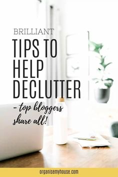 Create a clutter free home with these amazing decluttering tips from top bloggers. Simplify how you declutter your house starting today - with these brilliant tips that will really help you let go of things to get a clutter free space right now. Home Organisation Tips, Organization, Organizing Ideas, Clutter Free Home, Household Chores, Declutter Your Home, Free Space, Feeling Overwhelmed, Getting Organized