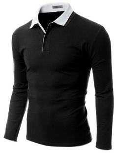 Doublju Mens Double collar polo shirts #doublju