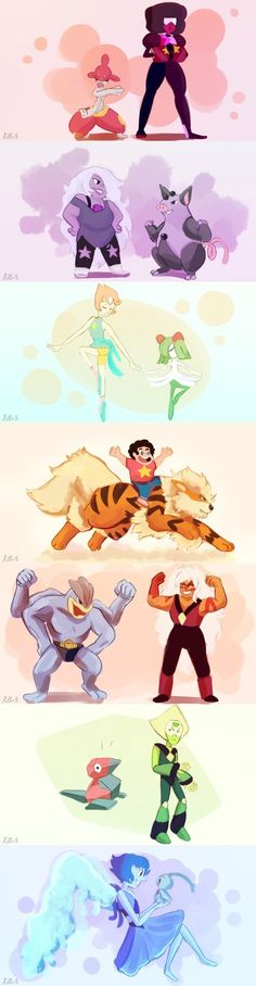 Steven universe and Pokemon