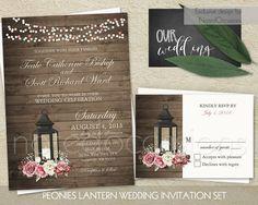 LanternRusticVintageBarn Wedding Invitation Printable