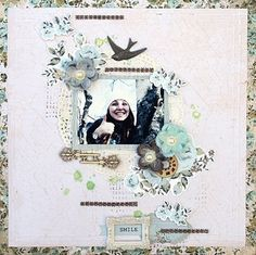 DT project by Maja Stokk made with the June 2014 kit, Rose Bouquet. swirlydoos.com
