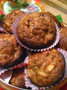 Marie est dans son assiette!: Muffins aux pommes et à l'érable de Cora Monkey Bread, Biscuits, Tea Time, Food To Make, Brunch, Marie, Gluten, Favorite Recipes, Breakfast