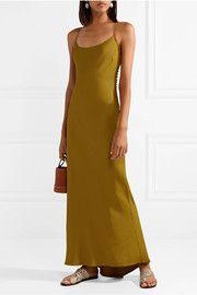 KhaiteMargot open-back satin-crepe maxi dress