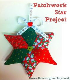 Patchwork star decoration