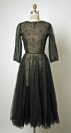 Evening Dress, Cristobal Balenciaga (Spanish, 1895–1972) for the House of Balenciaga (French, founded 1937): 1950, French, silk/horsehair.