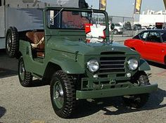 """BJ 20/30 Land Cruiser.jpg The korean war caused the demand for a light military vehicle such as the wwII Willis Jeep.  Built by Toyota, they gave us the Toyota """"jeep"""" BJ 35."""