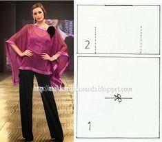 ROBE boothals ~ Templates Mode per Measure Diy Clothing, Clothing Patterns, Sewing Patterns, Modern Patterns, Gilet Kimono, Kaftan Pattern, Sewing Blouses, Diy Tops, Altered Couture