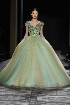 """""""Laurence Xu Couture Spring 2015"""" Photo by Giovanni Giannoni (quote) via wwd.com"""