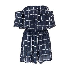 Elastic Waist Plaid Print Navy Blue Romper ($25) ❤ liked on Polyvore featuring jumpsuits, rompers, navy blue, print romper, playsuit romper, plaid romper, long-sleeve romper and short sleeve romper