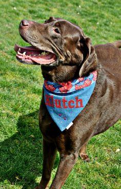 Personalized Dog Bandana. $13.00, via Etsy.