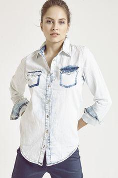 mavi kot gömlek kombinleri Denim Shirt, Denim Shirts