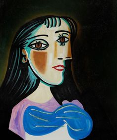 """""""Portrait of a Woman"""" by Pablo Picasso created in 1937 (Dora Maar)"""