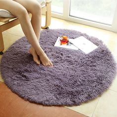 Cheap silk carpet, Buy Quality round carpet directly from China carpet round Suppliers: Solid color silk carpets Round carpet computer chair carpet Dome of mattress mats Rug for Living Room and Kids Room